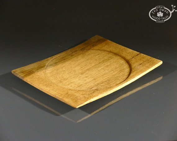 Handturned African Walnut Square  Plate