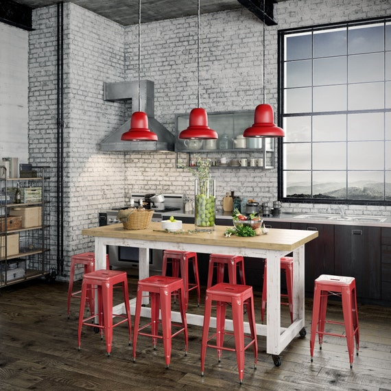 Industrial Chic Kitchen: Industrial Recycled Extra Large Shabby Chic White & Natural
