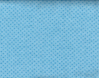 Tiny Tonal Blue flannel polka dot fabric - light blue - Fabri-quilt - BY THE YARD