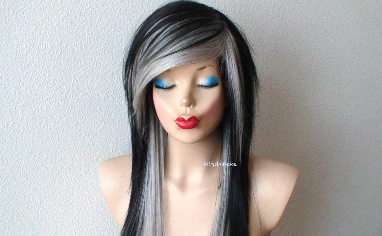 blonde bangs black hair � hairstyle of nowdays