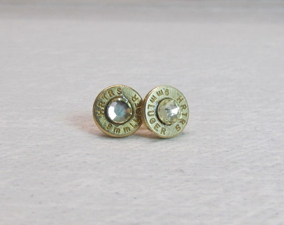 9mm luger ammo earrings bullet casing jewelry post