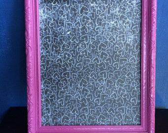 Pink Upcycled 8x10 Painted wall photo frame