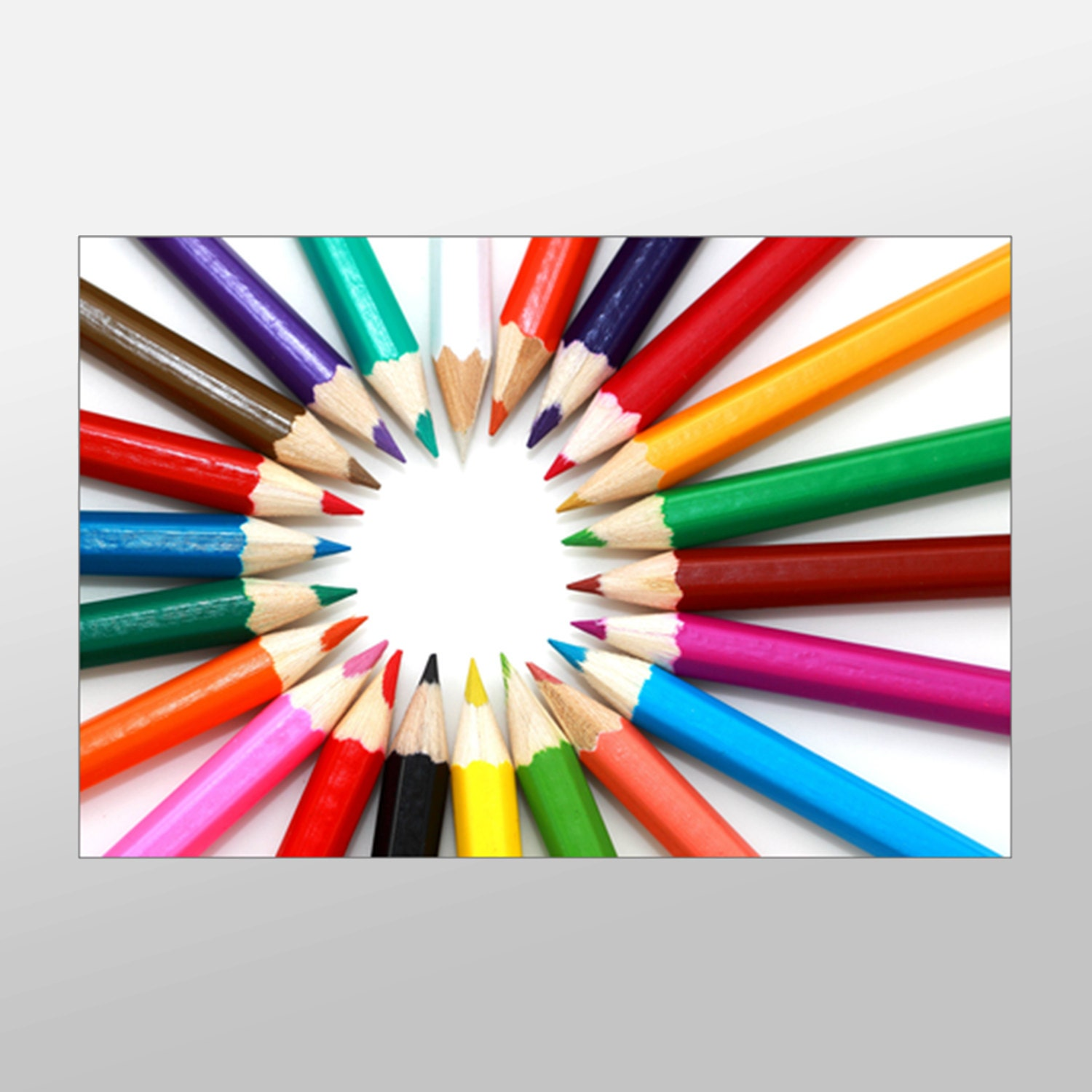 Colored Pencils Canvas Art Colored Pencil Photograph by ...