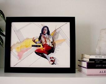 "Girl Time No. 5 - 8.5"" x 11"" Original Art Print"