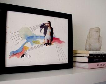 "Girl Time No. 7 - 8.5"" x 11"" Original Art Print"