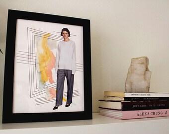 "Girl Time No. 16 - 8.5"" x 11"" Original Art Print"
