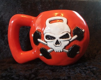 Custom Kettlebell Coffee Mug 16 or 24 oz ~ Made to Order ~ Handmade In USA