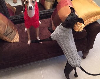Italian Greyhound Sweater - CUSTOM - You choose the color