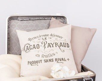 Cacao Payraud Vintage Style Pillow Cover