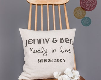 Personalised Madly In Love Quote Poem Pillow Cover