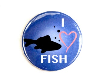 I Love Fish Pin