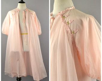 1950's Candy Pink Peignoir Robe