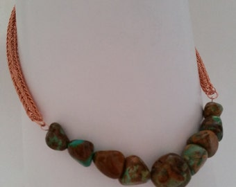 Chinese Turquoise and Viking weave chain