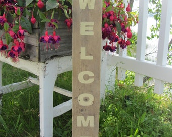 Wood Welcome Sign - Pallet Wood Sign - Welcome Sign - Door /Wall Decor - Wedding Sign - Reclaimed Wood - Pallet sign - Wood Sign - Door Sign