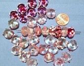 SALE- 35 Pink Lampwork Vintage Beads