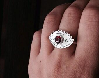 Mati Ring   St. Silver, Garnet