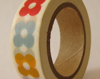 "Washi Tape ""Flower Charm""  10 Meters"
