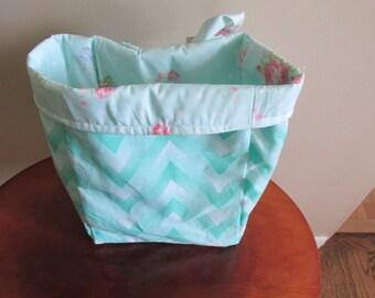 Turquoise Car Trash Bag, Nursery Caddy