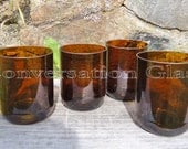 Beer Bottle Glasses Large Brown 16 oz