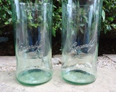 Bacardi Drinking Glasses made from Recycled Bacardi Rum Bottles Soda-Lime Color Tall Set of 2