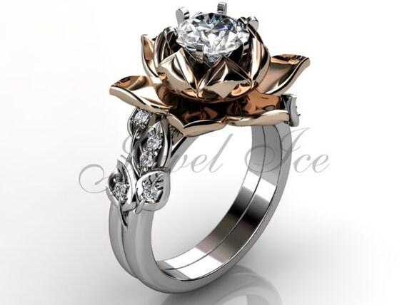 Lotus Flower Engagement Ring Setting