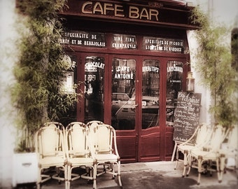 Paris Photography, Art Noveau, Paris Decor, Paris Cafe, Paris Street photo, Hector Gumard, Cafe Antoine, Burgundy