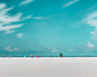 Beach Photography, Siesta Key Florida, Turquoise, Florida Beaches, Beach decor, Large Wall Art