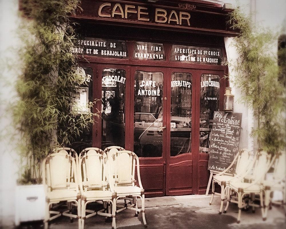 Paris photography art noveau decor cafe