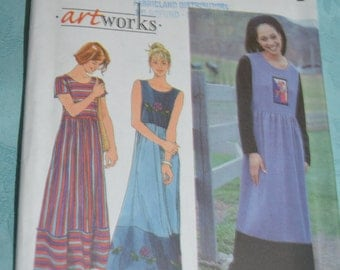 Simplicity 8337 Misses Dress or Jumper Sewing Pattern - UNCUT - Sizes 8 10 12