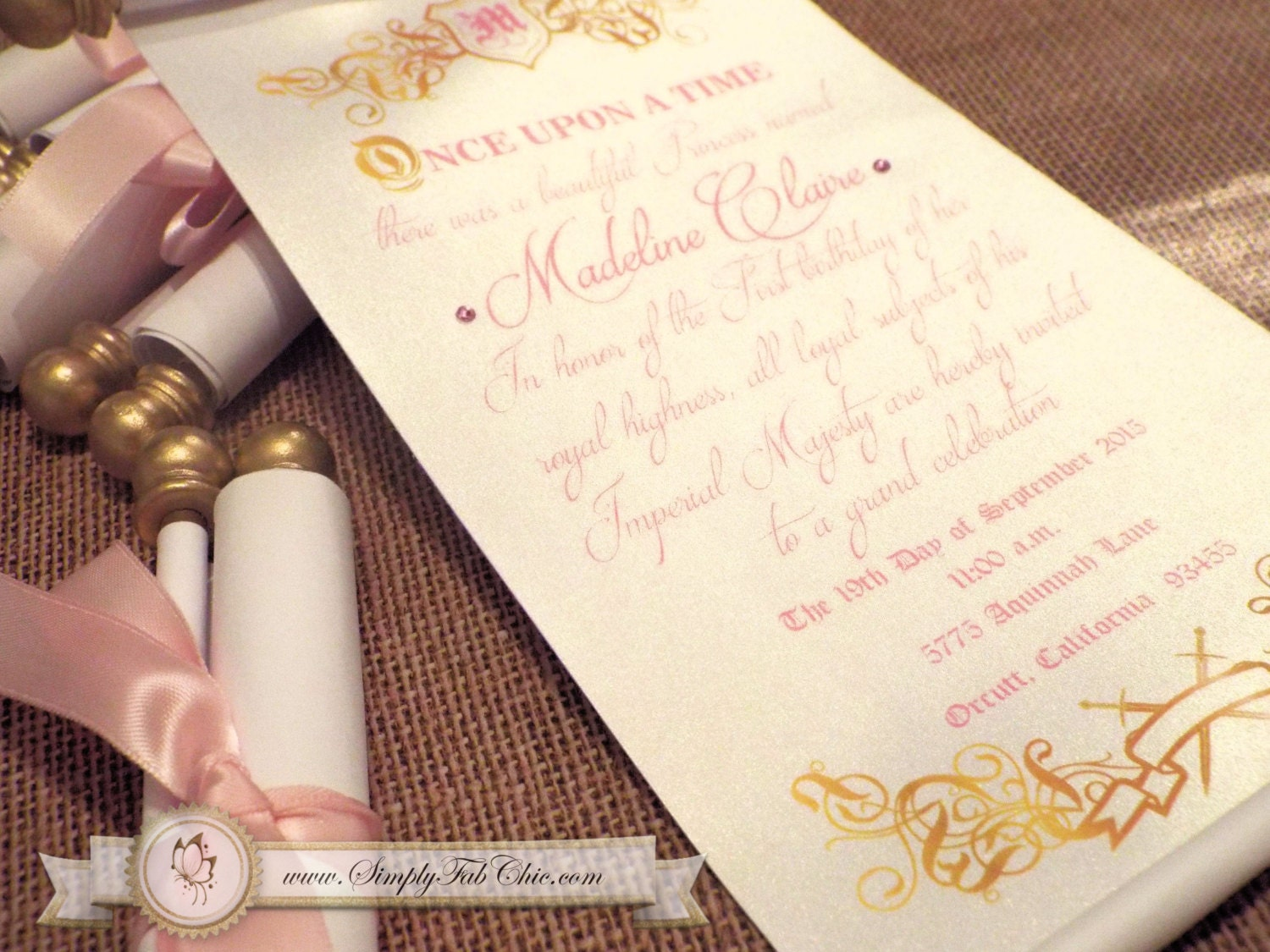 princess scroll wedding invitations - 28 images - simply fab chic ...
