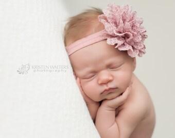 FREE SHIPPING! Plum Newborn Headband, Purple Baby Headband, Purple Headbands, Newborn Headband, Baby Headbands, Baby Girl Headbands