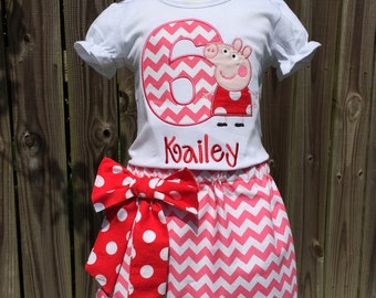 Peppa Pig Red Birthday Skirt outfit