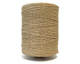 Hemp Wick 700 Feet Waxed Natural 1mm Twine