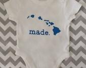 Hawaiian Made Baby Onesie - Made in Hawaii Onesie