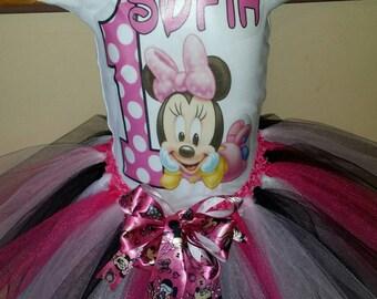 Birthday,Minnie,Minnie mouse,tutu,tutu outfit ,all sizes