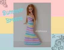 Topper DAWN Doll CLOTHES - Summer Breeze Gown and Jewelry - Custom Fashion by dolls4emma