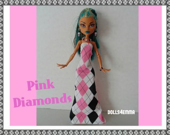 Monster High Nefera Doll Clothes - Custom Handmade Fashion fits big MH dolls Gown and Jewlery Set - by dolls4emma