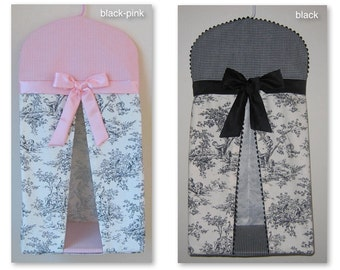 Central Park Toile Baby Nursery Diaper Stacker / Colors: Black, Sage, Pink, Blue, Horizon, Chocolate, Lime, Light Blue / Custom Made