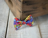 Puzzle Piece Fabric Bow Clips - Hand-folded Fabric Bows - Assorted Alligator Clips - Hair Accessories- Puzzle Piece Clip