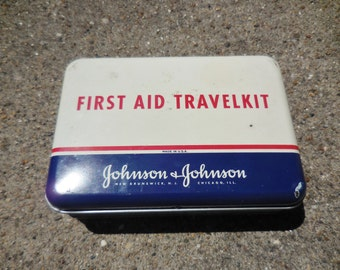 Complete Vintage First Aid Travel Kit Johnson And Johnson Complete