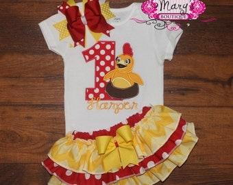 Chica Birthday Ruffled Bloomers Outfit