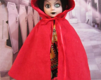 Little Red - Fake Suede Fully Lined Cape for Living Dead Dolls
