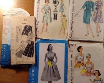 Vintage Women's Fashion Patterns - lot of 5