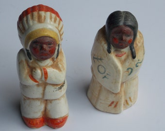 Vintage Indian Salt And Pepper Shakers