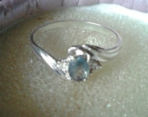 Natural Color Change Alexandrite Sterling Silver Ring