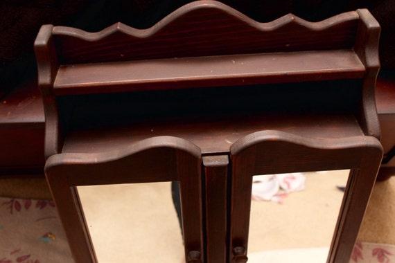 Beau Small Antique Brass Medicine Cabinet: Antique Wooden Bathroom Medicine Cabinet By Dankvintagefinds
