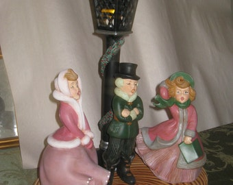 Ceramic christmas carolers hand painted by Joan Davis 5 pc. set