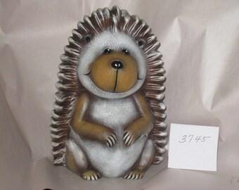 """Ceramic Tasha Hedgehog hand painted by Joan Davis  10""""  X 3"""""""