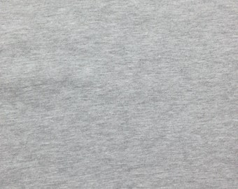 "Heather Gray Cotton Fabric Jersey Knit by Yard 67""W 8/15"