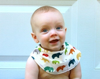 Baby Drool Bib, Organic Ellie Cotton with Organic Bamboo Terry